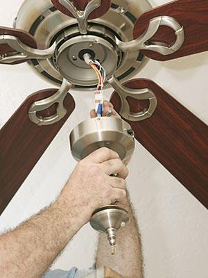 Ceiling fan hook up — 12